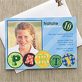 Personalized Photo Birthday Party Invitations for Kids - 10857