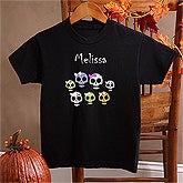Personalized Girls Halloween Sweatshirts - Skulls