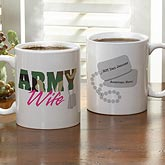 Personalized Military Coffee Mugs - Army & Navy Supporters - 10865