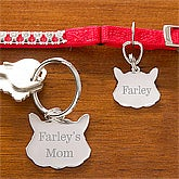 Personalized Cat Name Tag & Keychain Set - 10869
