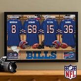 NFL Football Personalized Locker Room Prints - Buffalo Bills - 16x24