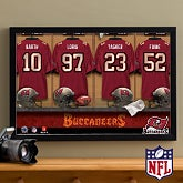 Personalized Tampa Bay Buccaneers NFL Locker Room Canvas Print - 10888