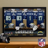 Personalized San Diego Chargers NFL Locker Room Canvas Print - 10890