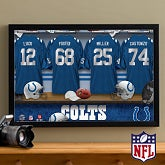Personalized Indianapolis Colts NFL Locker Room Canvas Print - 10892