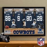 Personalized Dallas Cowboys NFL Locker Room Canvas Print - 10893