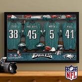 Personalized Philidelphia Eagles NFL Locker Room Canvas Print - 10895