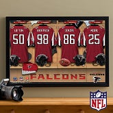 Personalized Atlanta Falcons NFL Locker Room Canvas Print - 10896