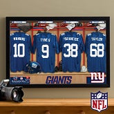Personalized New York Giants NFL Locker Room Canvas Print - 10897