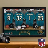 Personalized Jacksonville Jaguars NFL Locker Room Canvas Print - 10898