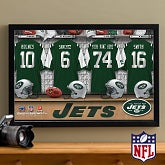 Personalized New York Jets NFL Locker Room Canvas Print - 10899