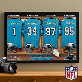 Personalized Carolina Panthers NFL Locker Room Canvas Print - 10902
