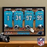NFL Football Personalized Locker Room Prints - Carolina Panthers - 16x24