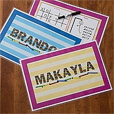Personalized Kids Activity Placemat - 10903