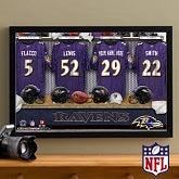 Personalized Baltimore Ravens NFL Locker Room Canvas Print - 10910