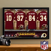 Personalized Washington Redskins NFL Locker Room Canvas Print - 10911