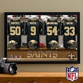 Personalized New Orleans Saints NFL Locker Room Canvas Print - 10912