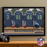 Personalized Seattle Seahawks NFL Locker Room Canvas Print - 10913
