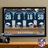 Personalized Tennessee Titans NFL Locker Room Canvas Print - 10916
