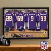 Personalized Minnesota Vikings NFL Locker Room Canvas Print - 10917