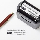 Personalized Return Address Stamp - Name & Initials - 10921