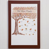 Personalized Fall Family Tree Canvas Art - 10937