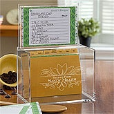 Acrylic Personalized Recipe Box - Damask - 10945