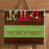 Personalized Christmas Wall Sign - Santa's Workshop - 10956