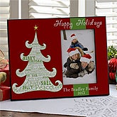 Personalized Christmas Picture Frames - Christmas Tree - 10962