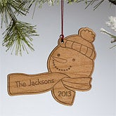 Personalized Christmas Ornaments - Holiday Snowman - 10967