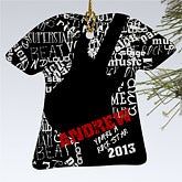 Personalized Christmas Ornaments - Rock On Guitar T-Shirt - 10968