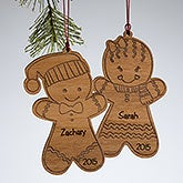 Personalized Christmas Ornaments - Gingerbread Cookie - 10969