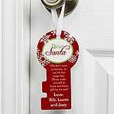 Personalized Christmas Door Hanger - Santa Key - 10972