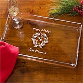 Personalized Holiday Party Serving Tray - 10973