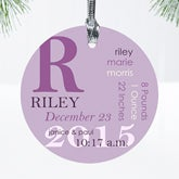 Personalized Baby Christmas Ornaments - Baby Birth - 10978