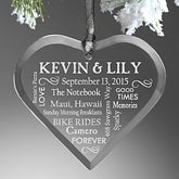 Personalized Christmas Ornaments - Wedding Heart - 10979