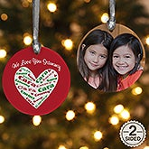 Personalized Christmas Ornaments - Heart of Love
