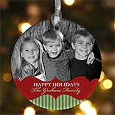Personalized Photo Christmas Ornaments - Classic Holiday - 10990
