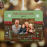 Personalized Christmas Ornament Picture Frame - Holiday Memories - 10993