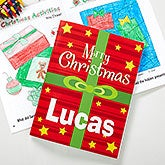 Personalized Christmas Coloring Book & Crayon Set - 10995