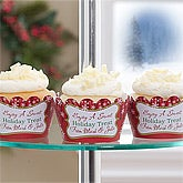 Christmas Tree© Personalized Cupcake Wrappers-Set of 24