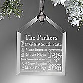 Personalized Christmas Ornaments - Family Home - 10999