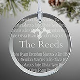 Personalized Glass Christmas Ornaments - Holiday Greetings - 11003