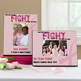 Personalized Breast Cancer Awareness Picture Frames - Find A Cure - 11017