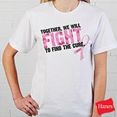 Personalized Pink Ribbon Breast Cancer Awareness Apparel - Find A Cure - 11019