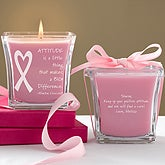 Personalized Breast Cancer Awareness Candles - Courage & Strength - 11024