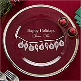 Personalized Holiday Serving Platter - Deck The Halls - 11030