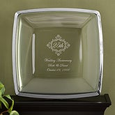 Personalized Anniversary Keepsake Platter - Gold Trim