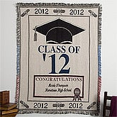 Personalized Graduation Afghan - Class of 2012 - 11049