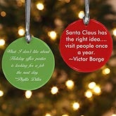 Personalized Christmas Ornaments - Your Message - 11077