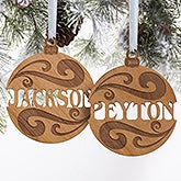 Personalized Wood Name Christmas Ornaments - 11087